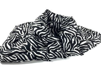 Zebra Print, Microwavable Neck Warmer, Neck Shoulder Heating Pad, Rice Bag, Therapy Pack for Pain Relief, Fibromyalgia, Relaxation Gift