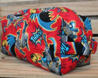 Large Zippered Batman Make-up/Toiletry Bag