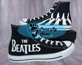 The Beatles, Hey Jude, Here comes the sun,  converse, hand painted shoes, free shipping in the US