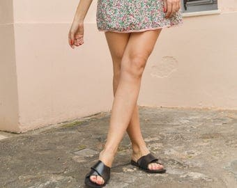Criss cross sandals,Handmade Leather Sandals, Summer Flats, Women Shoes, Leather Flats, Greek Sandals,Leather Sole,Black sandals
