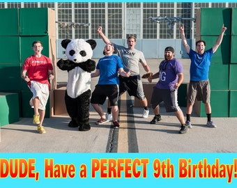 Personalized Birthday Party Holiday Edible Image Icing Frosting Sheet Cake Topper - 1/4 Sheet Sized - DUDE PERFECT Panda