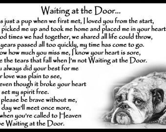 Bulldog Memorial Magnetic Sympathy Card pet loss bereavement gift