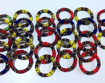 Extra thick Zulu beaded bangles each