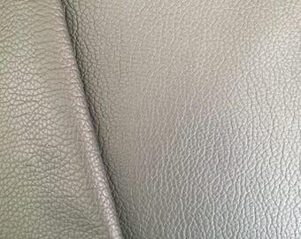 Shiny Light Grey Faux Leather Shimmery Grey Leatherette Texured Light Grey Soft Leatherette Supply in Australia