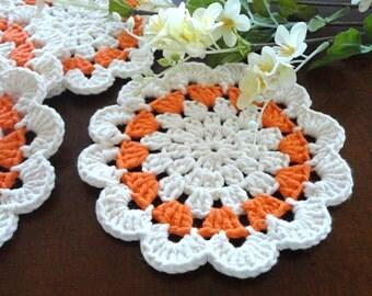 Coaster Crochet Coasters Placemat Table linens Kitchen Decor Gift Crochet Doilies Tablecloth Crochet Doily Round Cotton Table Home Decor