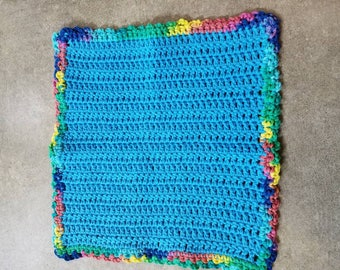 Handmade Crocheted Washcloths, Crochet Dishrag, 100% Cotton Yarn, Dish Cloth