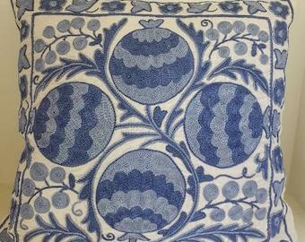 FREE SHIPPING!Suzani handmade pillow, pillowcase,pillow cover from Uzbekistan.