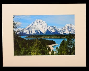 Grand Teton National Park Teton Spring Matted Fine Art Giclee Print, Modern Wall Art Featuring Fine Art Nature Photography From The Tetons