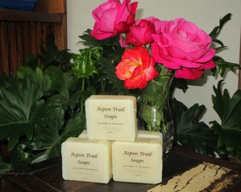 Hand crafted Soap with Rosemary & Lavender Essential Oil