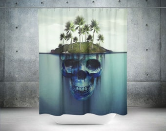 Gallery Of Skull Shower Curtain Bathroom Decor Cool Curtains Ocean With Unique