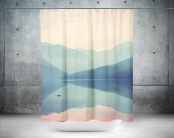 Mountain Shower Curtain | Photo Shower Curtain | Wanderlust Shower Curtain | Lake Shower Curtain | Wanderlust Bath Curtain | Lake Bath