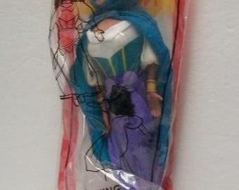 "Disney Doll  1996 Esmerelda The Gypsy The Hunchback Of Notre Dame  Plush 9"" Doll New Sealed Burger King Fast Food Toy"