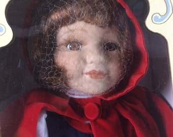 Vintage Little Red Riding Hood Doll - Collectible Doll - Fairy Toll Dolls - 16 inches - Brothers Grimm