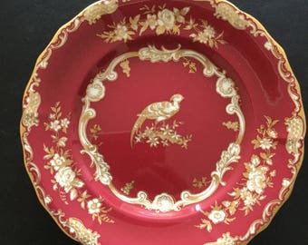 A gorgeous red spode cake plate