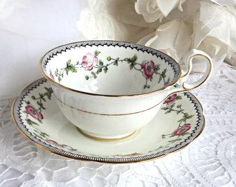 Aynsley Teacup and Saucer, Tea Party, Vintage Teacup, Mid Century Aynsley Teacup, Fine Bone China