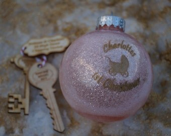 Personalised christmas bauble, engraved christmas gift, babys 1st christmas, in loving memory, bespoke christmas gift, christmas bauble,