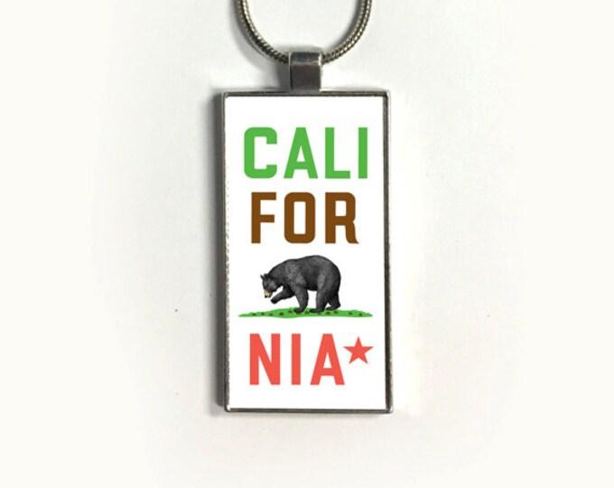Necklace CALIFORNIA, Pendant, California flag, California Bear, sublimation, gift for friends