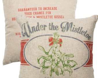 Under the Mistletoe Vintage Farmhouse Super Soft Christmas Pillow