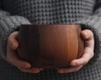 small one of a kind wooden bowl in teak wood