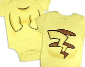 Electric Pocket Monster Costume baby grow