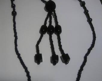 Black Crystal bead Necklace