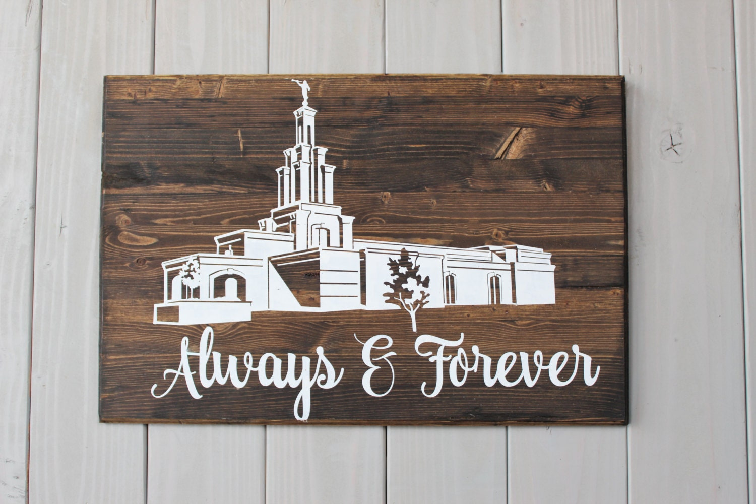 Lds temple ornaments - Always And Forever Lds Temple Wall Hanging Temple Sign Temple Wedding Sign Lds