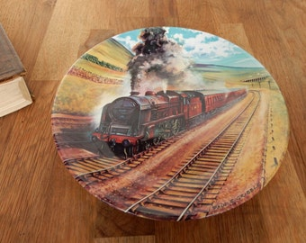 Vintage The Waverley, Davenport Collectors Plate.Great for display, Train Plate, boho,retro, Vintage Trains.