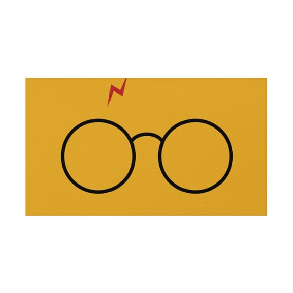 Harry Potter Glasses Rug by LaChicHomeDecor