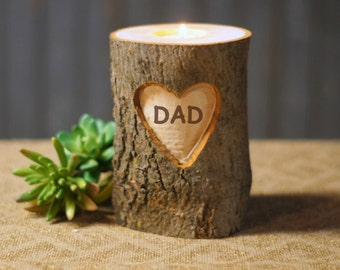 Personalized Reclaimed Wood Candle Holder, Fathers Day, Gift for Him, Gifts under 25, Mens Gifts, Dad, Father of the bride, brother, husband