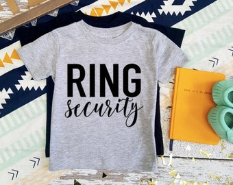 Ring Bearer / Ring Security / Wedding Party / T-Shirt / Custom Colors