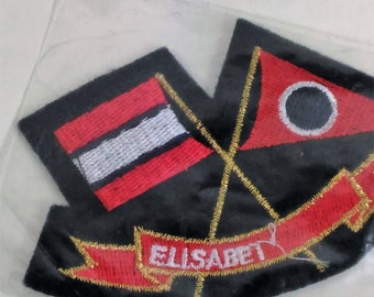 """Patch/Applique """"Elisabet""""/3.75"""" By 2.25""""/ Free Shipping Within The Cont. USA"""
