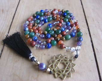 7 Chakra Mala with Anahata Pendant