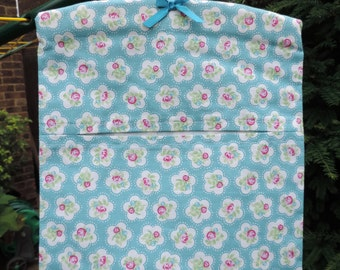 Peg Bag, Cotton Peg Bag, Laundry Peg Bag. Handmade