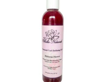 Flaxseed w/ Marshmallow Root Curl Defining Gel-8oz. All Natural, Organic, Handmade, Hair Gel, Herbal Tea Blends