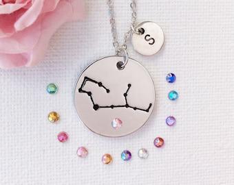 Virgo necklace, virgo jewellery, virgo constellation, virgo jewelry, virgo star sign, virgo starsign, virgo, gift for virgo, SPCRYVIRGO1