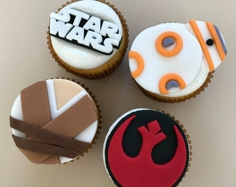 12 Star Wars Resistance Inspired Cupcake Toppers-Fondant