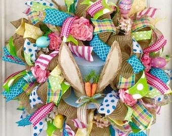 Easter Wreath, Easter Bunny Wreath, Easter Door Wreath, Easter Wreath For Door, Spring Wreath, Easter Wreaths For Front Door, Bunny Wreath