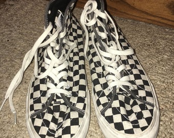 Vans overwashed decon sk8 hi canvas shoe 11.5 RARE