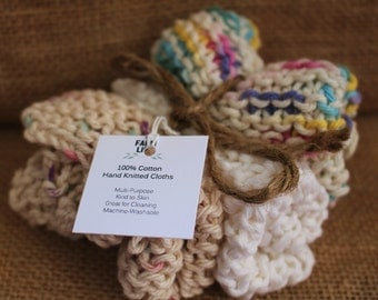 Hand Knitted Cotton Cloths