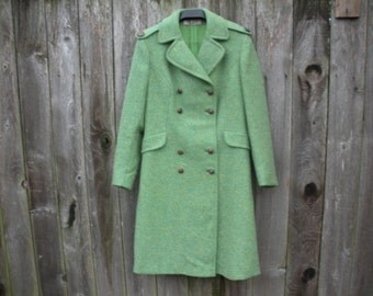 vintage green Italian made wool coat