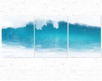 Surf Photography, Triptych, Wave Photography, The Wedge, Newport Beach, Ocean Photography, Wall Art, Wall Decor, Aluminum Wall Hanging