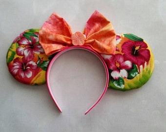 Tropical Hawaiian inspired ears