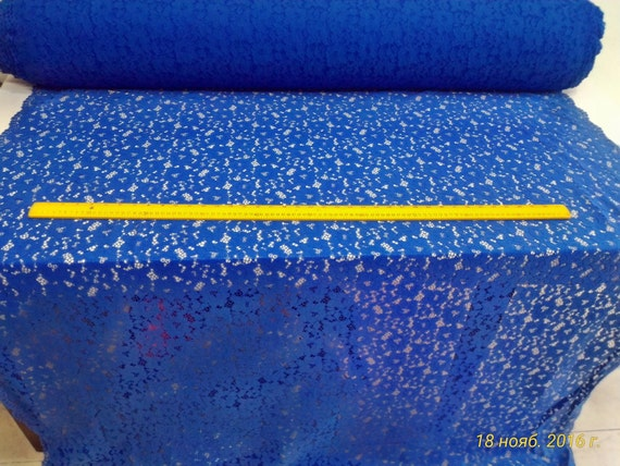 New fashion Blue with glitter embroidery fabric stage/evening/fashion show/wedding dress