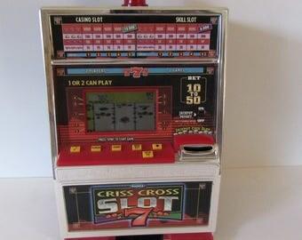 Radica Vintage Criss Cross Table Top Slot Machine-It's A Bank