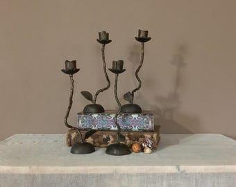 Brass Candlesticks/Vintage Brass Candle Holders/Rustic Candlesticks/Vintage Candleholder/Vintage Candlesticks Pair/Antique Candlestick
