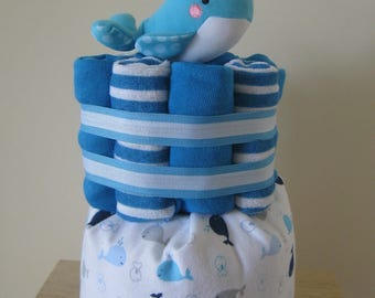Custom Diaper Cake, Medium size, Baby Shower Gift