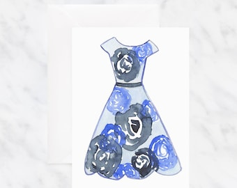 Birthday Card - Card for Mom - Greeting Cards - Watercolor Cards - Friendship Card - Floral Card - Blank Card - Illustrated Cards
