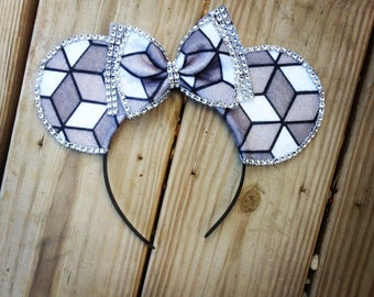 Cute and Simple Spaceship Earth Inspired Epcot Minnie Mouse Ears