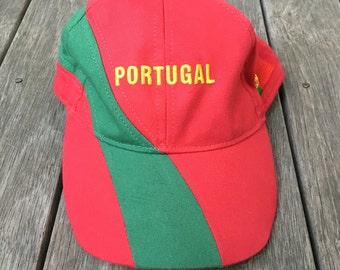 Vintage 90s Portugal World Cup Football Hipster Dad Strap Back Sportswear Cap Retro Hip Hop Summer Streerwear Hat Portugal Team Soccer Cap