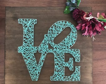 Valentines Day LOVE String Art Gift wedding/anniversary